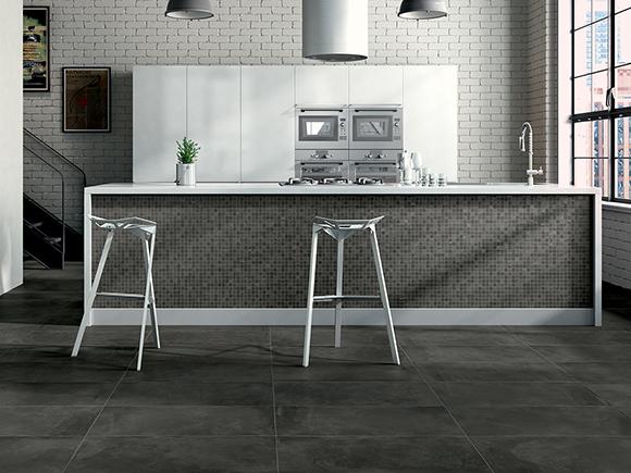 Castelvetro Fusion Antraciet 60x120 Mozaik 30x30